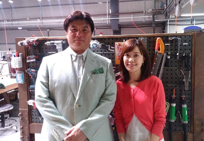 DMM.make AKIBAを取材いただいた片岡利文解説委員と登田真由子アナウンサー